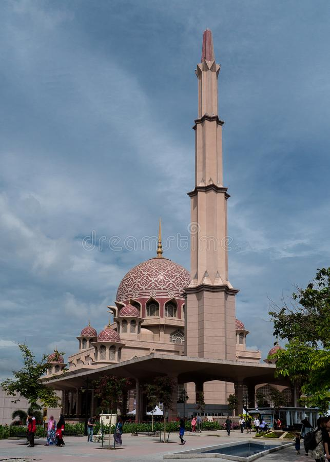 The pink Putra Mosque royalty free stock images