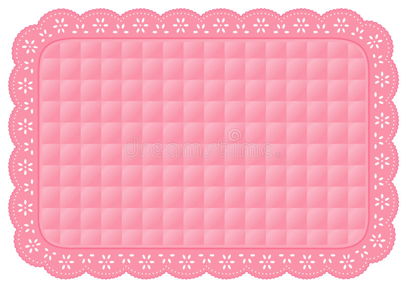 Download Pink Quilted Eyelet Lace Place Mat Stock Vector - Illustration: 5944543