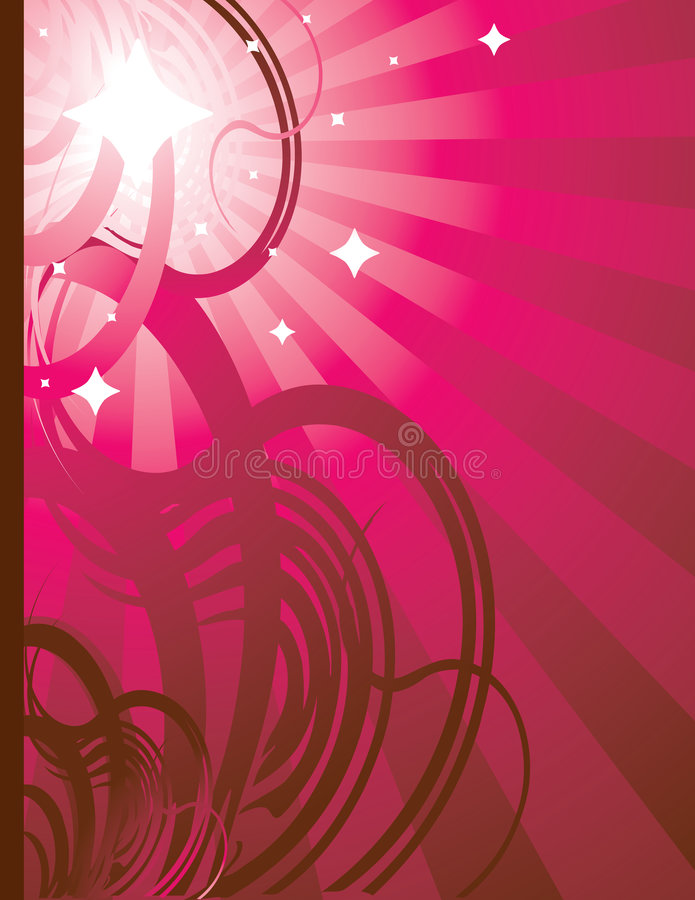 Pink radiating ray background 2 royalty free illustration
