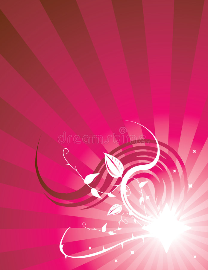 Pink radiating ray background 3 royalty free illustration