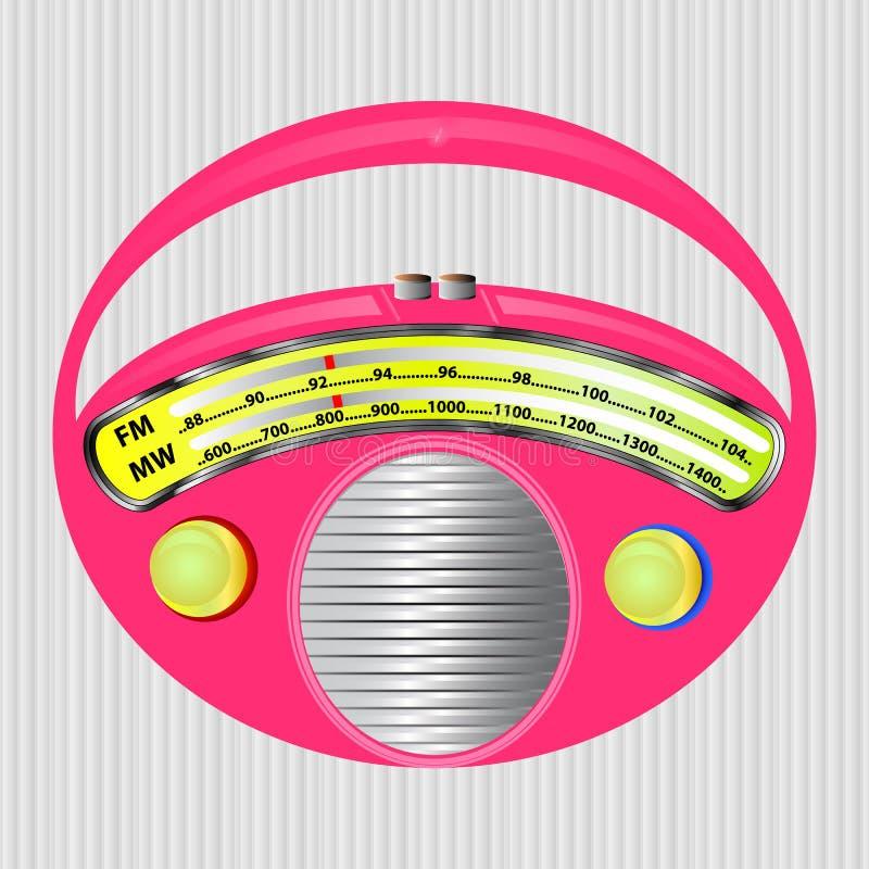 Pink radio stock image
