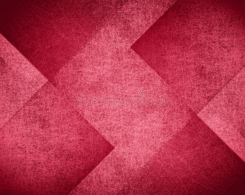 Pink and red background design, abstract block pattern. With geometric diamond shapes and vintage faded texture detail stock photography