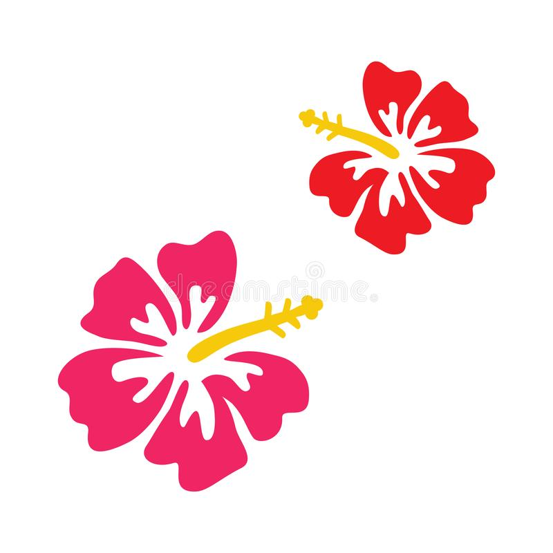 pink and red hibiscus vector stock vector illustration of leaf rh dreamstime com hibiscus vector free hibiscus vectoriel free