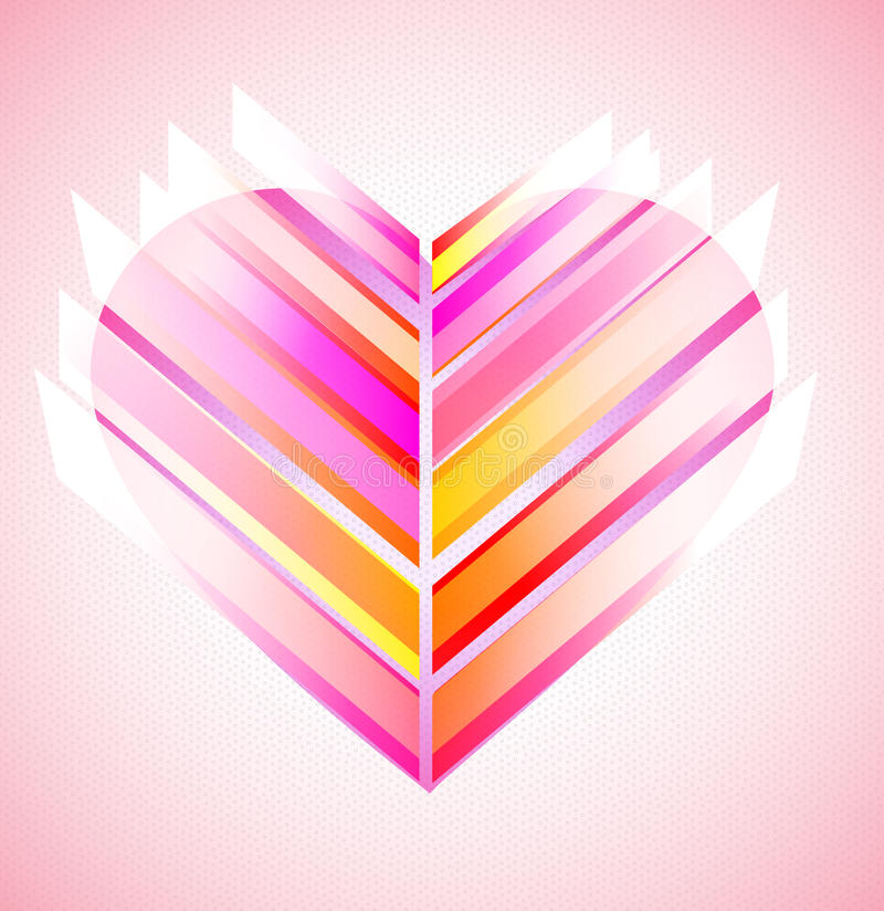 Download Pink And Red Modern Abstract Heart Stock Vector - Illustration of glossy, passion: 22688857