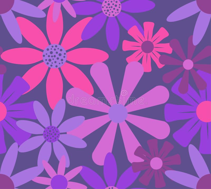 Pink red roses flowers pattern royalty free illustration