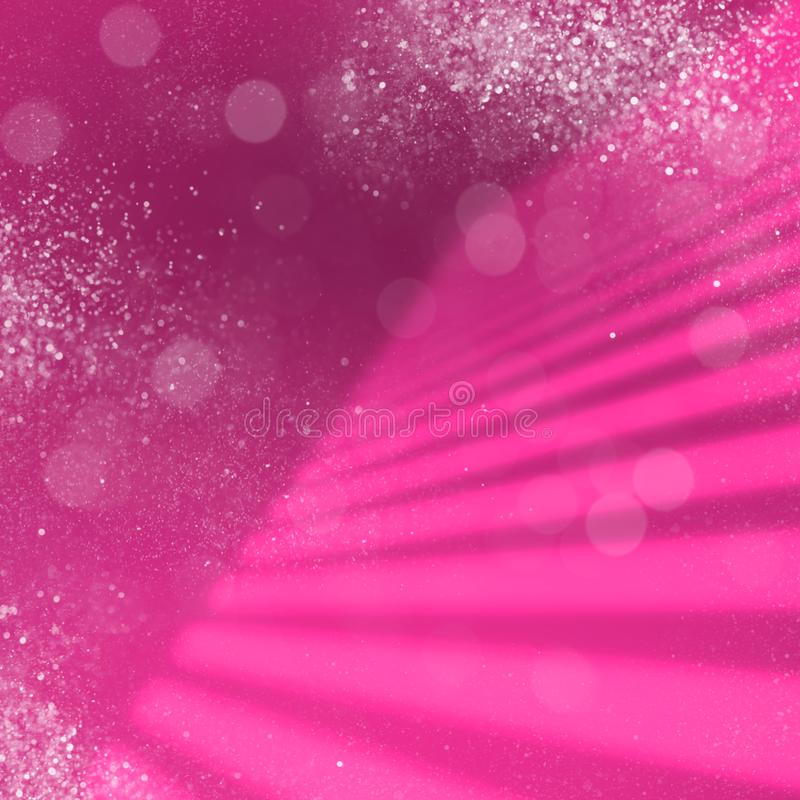 Pink Red Star Dust Xmas Neon Background royalty free illustration