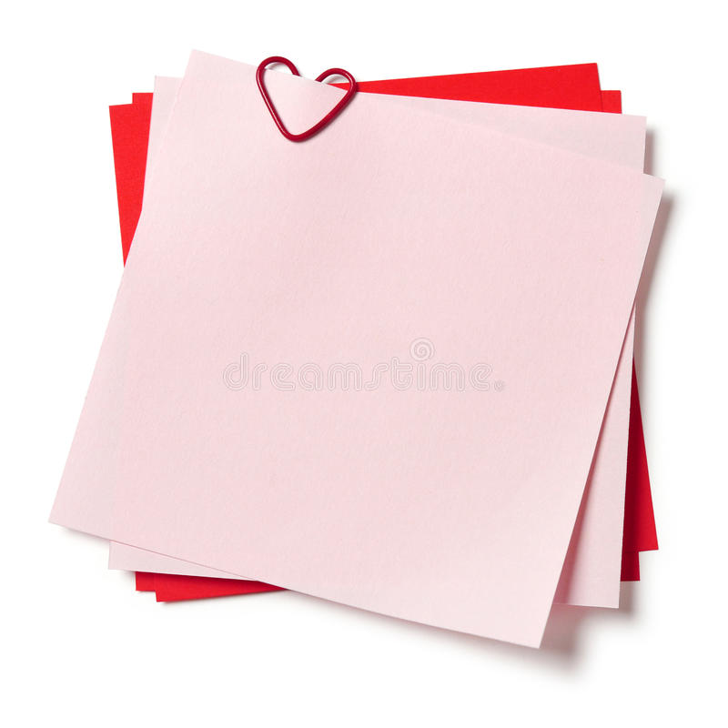 Download Pink And Red Sticky Notes Royalty Free Stock Photos - Image: 29169088