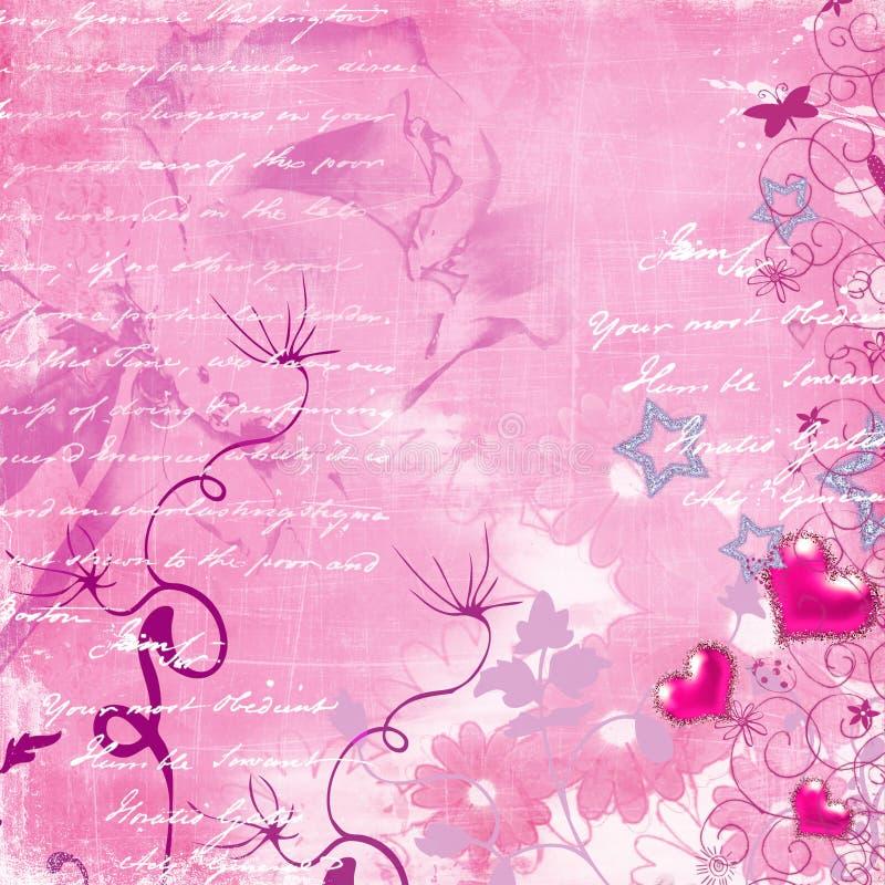 Pink retro background royalty free stock photo