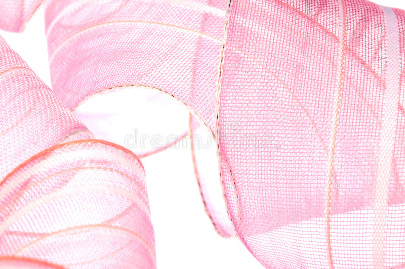 Pink ribbon royalty free stock photo