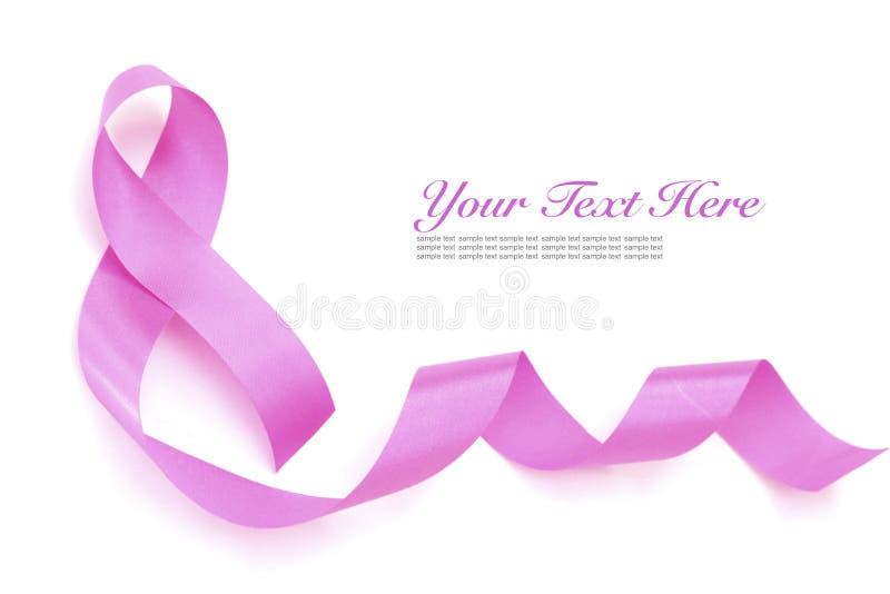 Pink ribbon. A Pink breast cancer ribbon stock photography