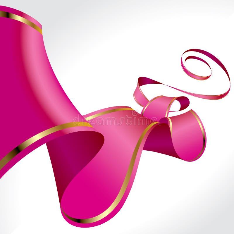 Download Pink ribbon stock vector. Illustration of gold, elegance - 23345295