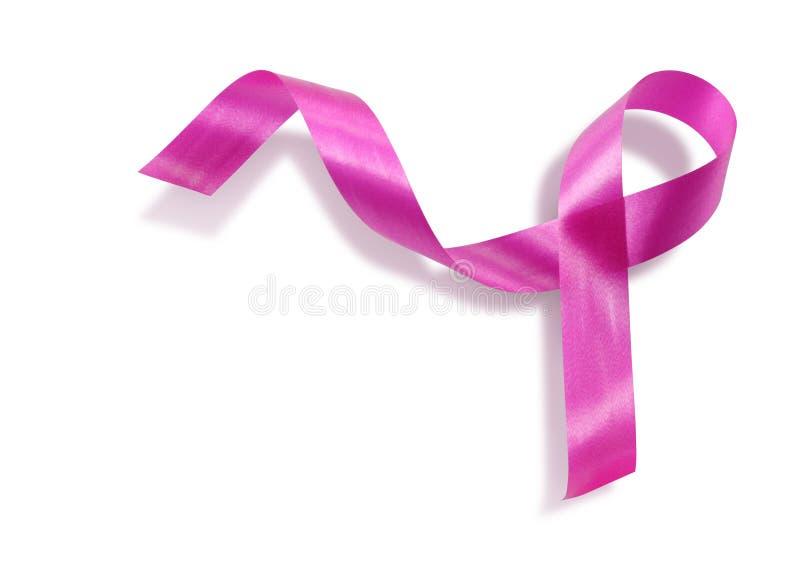 Pink ribbon. Isolated on white background stock image