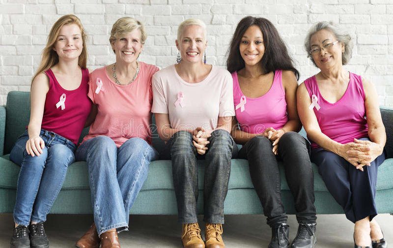 Pink Ribbon Breast Cancer Awareness Concept. Pink Ribbon Breast Cancer Awareness stock photography