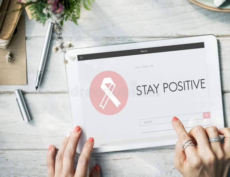 Pink Ribbon Breast Cancer Healthcare Concept royalty free stock photo