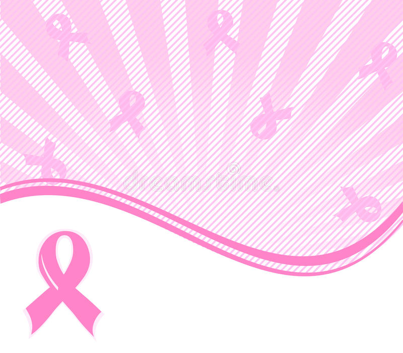 pink ribbon breast cancer support background