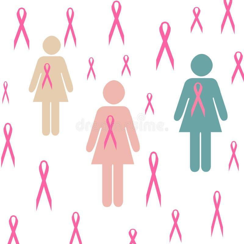 Pink ribbon clip art royalty free illustration