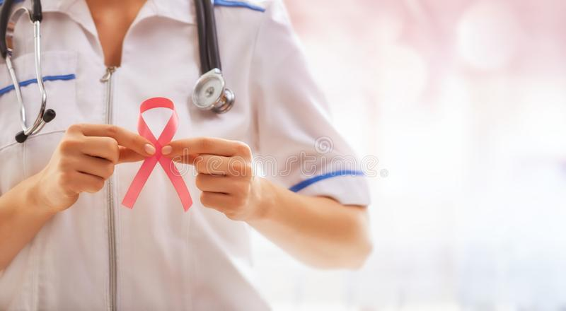 Pink ribbon concept royalty free stock photography