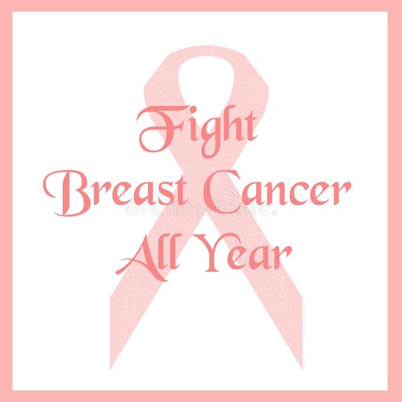 Pink ribbon fight vector illustration