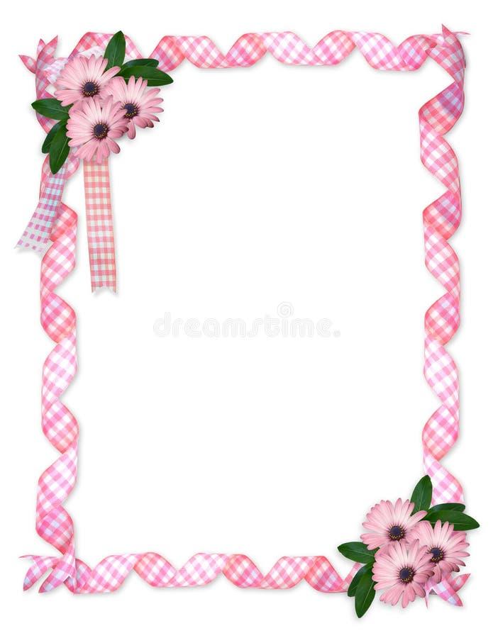 Download Pink ribbons daisy border stock illustration. Image of ribbons - 13078118