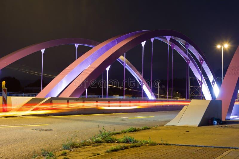 Download Pink Road Bridge At Night Stock Images - Image: 18275964