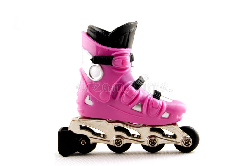Pink rollerscates stock photos