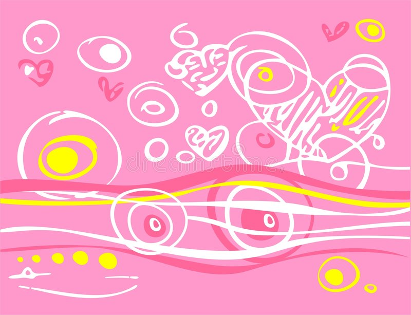 Download Pink romantic background stock vector. Image of imagination - 3374065