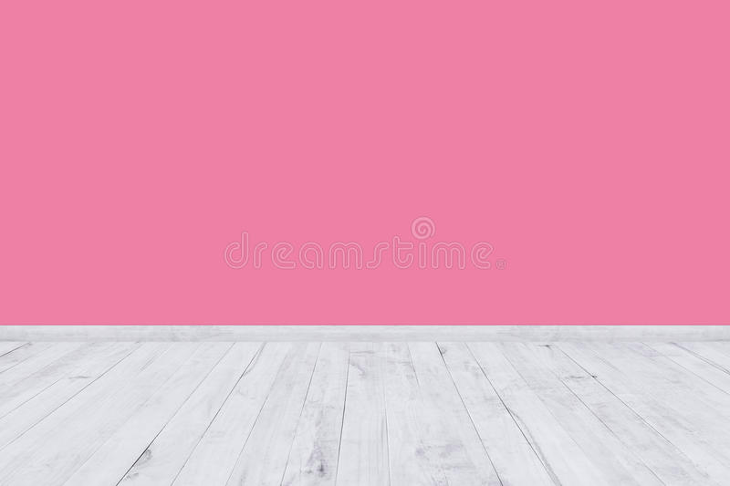 Pink Room Wall With Wooden Floor Texture Stock Illustration