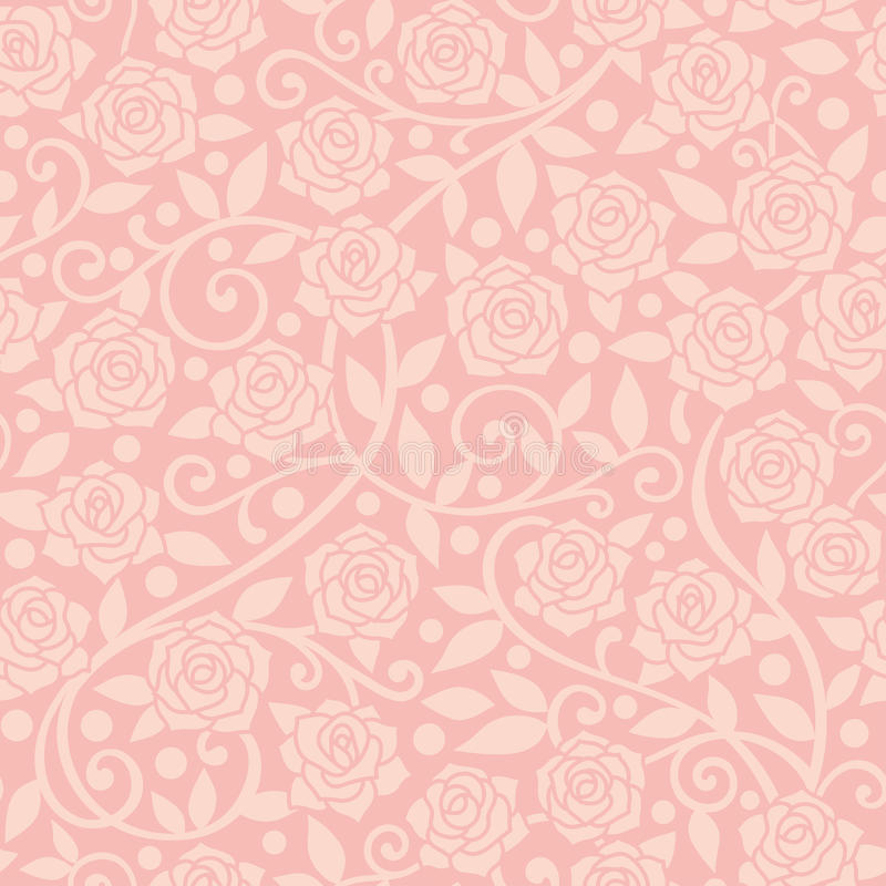 Pink rose background. Wallpaper of pink roses. Seamless of pink roses