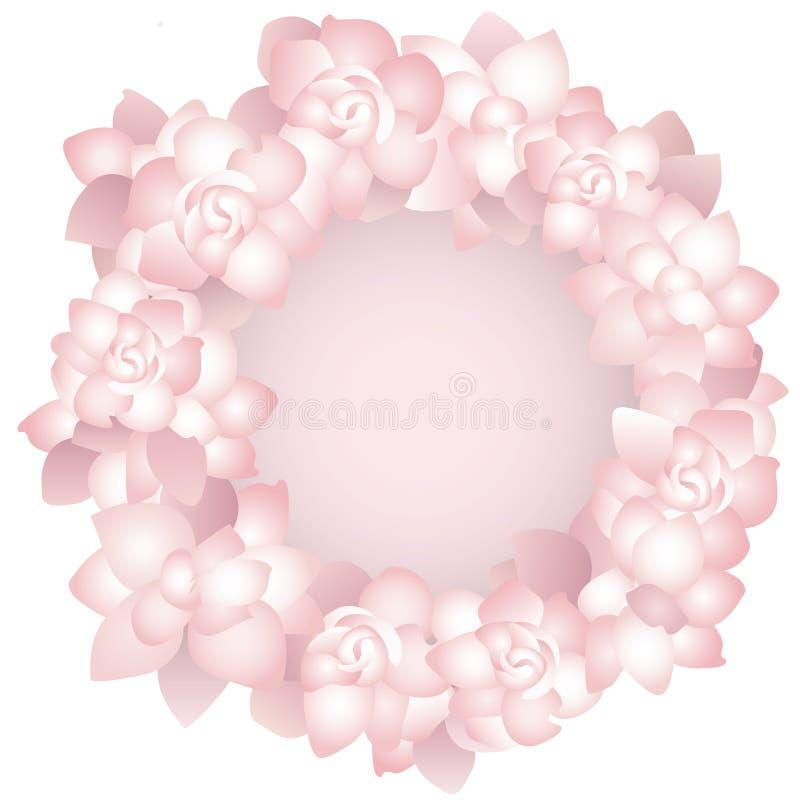 Pink rose frame royalty free stock image