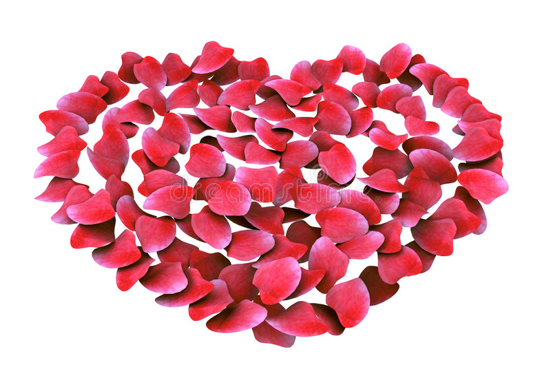 The Pink Rose Petal Heart Royalty Free Stock Image