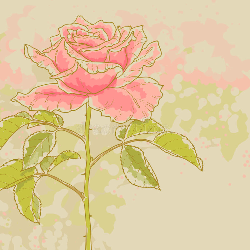 Download Pink Rose On Toned Background Stock Photography - Image: 26514472