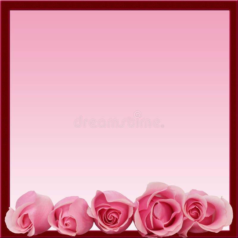 Download Pink Roses Border Frame Bottom Stock Photo - Image: 17643252