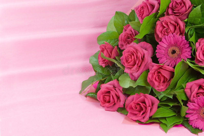 Download Pink roses bouquet stock image. Image of bunch, romantic - 4886997