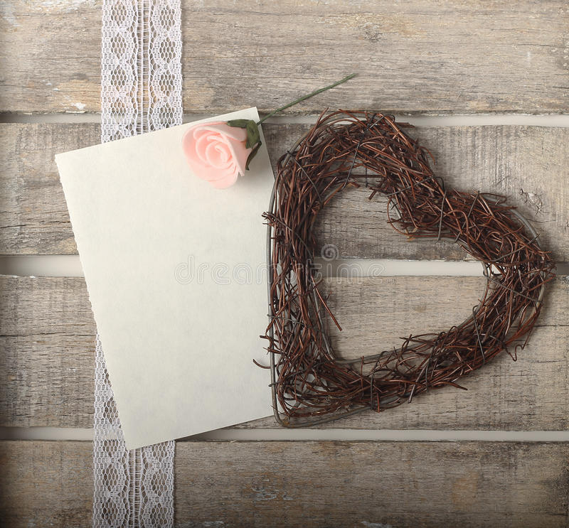 Download Pink Roses And Heart Greeting Card Stock Images - Image: 30886554