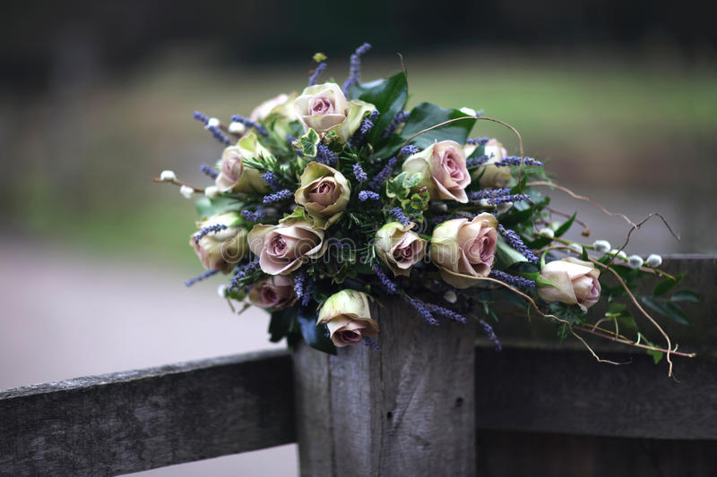 Download Pink Roses & Lavender Bouquet Stock Photo - Image of shades, lavender: 30491250