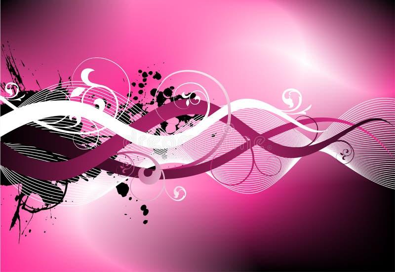 Pink rough vector design. Pink vector illustration with floral motive vector illustration