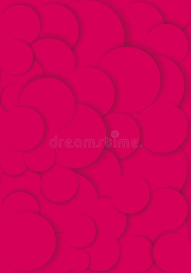 Pink round bubbles with embossed effect stock photography