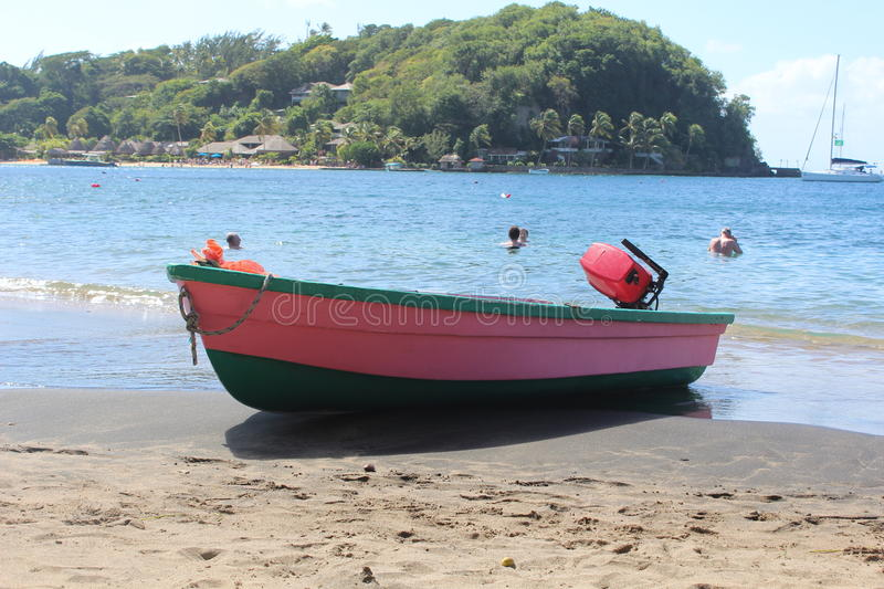 Pink Row-Boat royalty free stock image