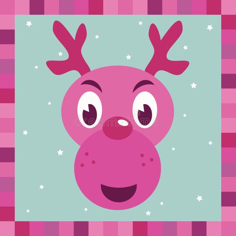 Download Pink Rudolph Reindeer Decoration Stock Vector - Image: 11036266