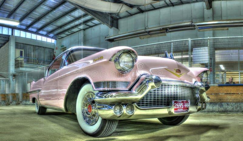 Pink 1950s Cadillac royalty free stock photos