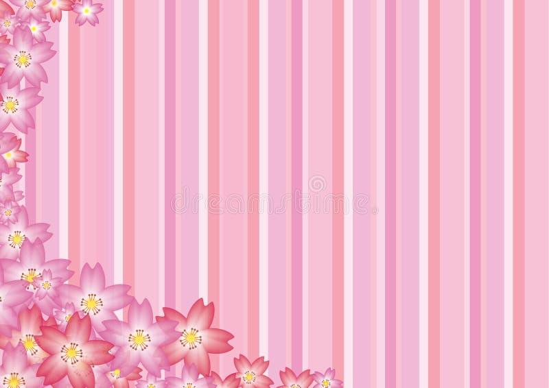 Pink Sakura Background. Illustration of Pink Sakura Background vector illustration