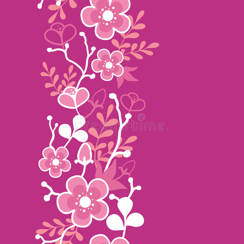 Free Pink Sakura Kimono Blossom Vertical Seamless Royalty Free Stock Images - 32238189