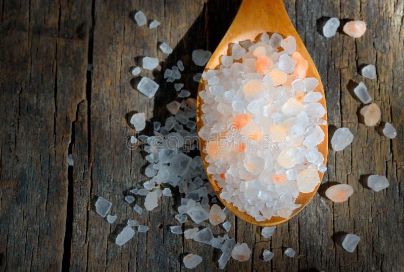 Pink salt stock photo