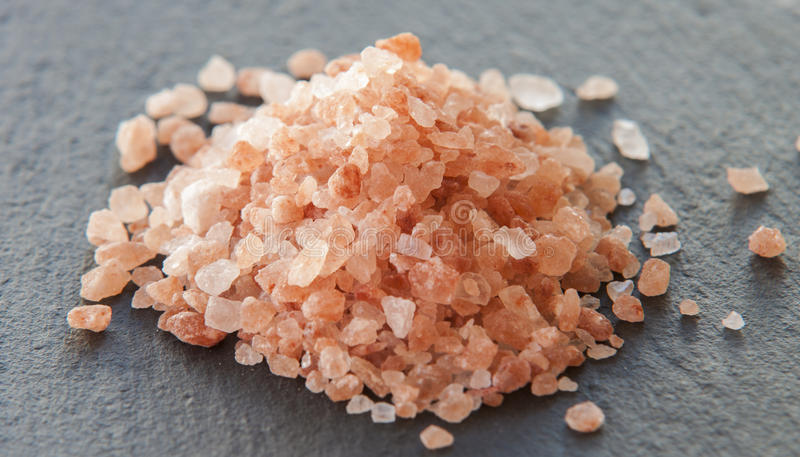 Pink salt from stock photo