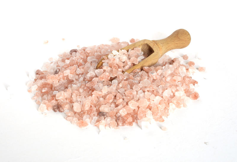 Pink salt from the Himalayas in Sofia , Bulgaria royalty free stock images