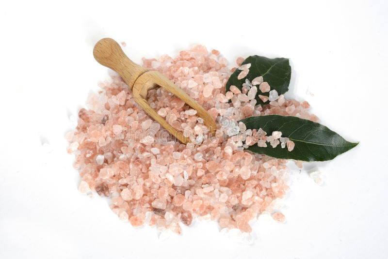 Pink salt from the Himalayas in Sofia , Bulgaria stock photography