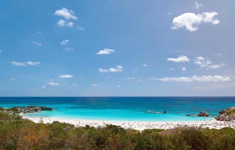 Pink sand beach in Bermuda island royalty free stock photos