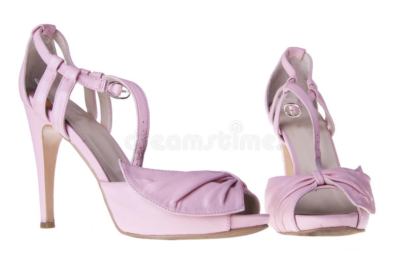 Pink Sandals With Heels Royalty Free Stock Photo