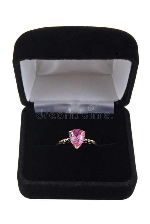 Download Pink sapphire ring stock image. Image of white, gold, elegant - 6679543