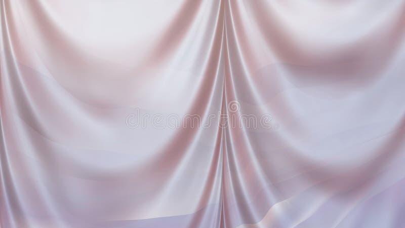 Pink Satin White Background Beautiful elegant Illustration graphic art design Background royalty free illustration